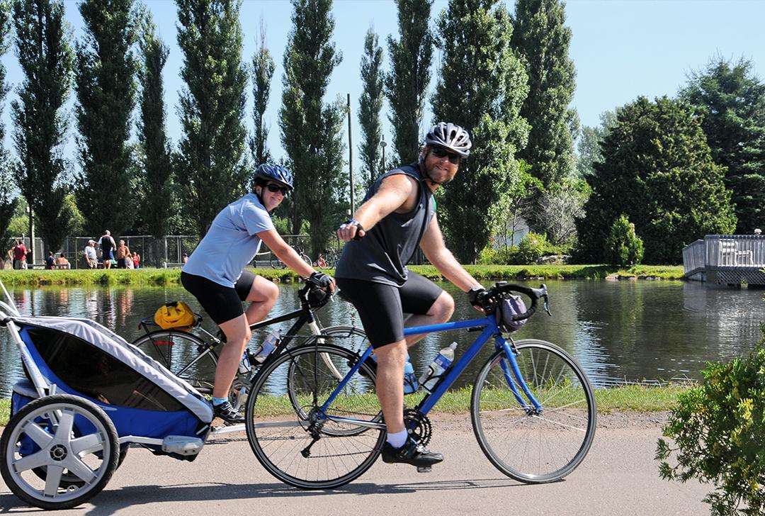 Place idéal pour les cyclistes au Camping Lac-Saint-Michel