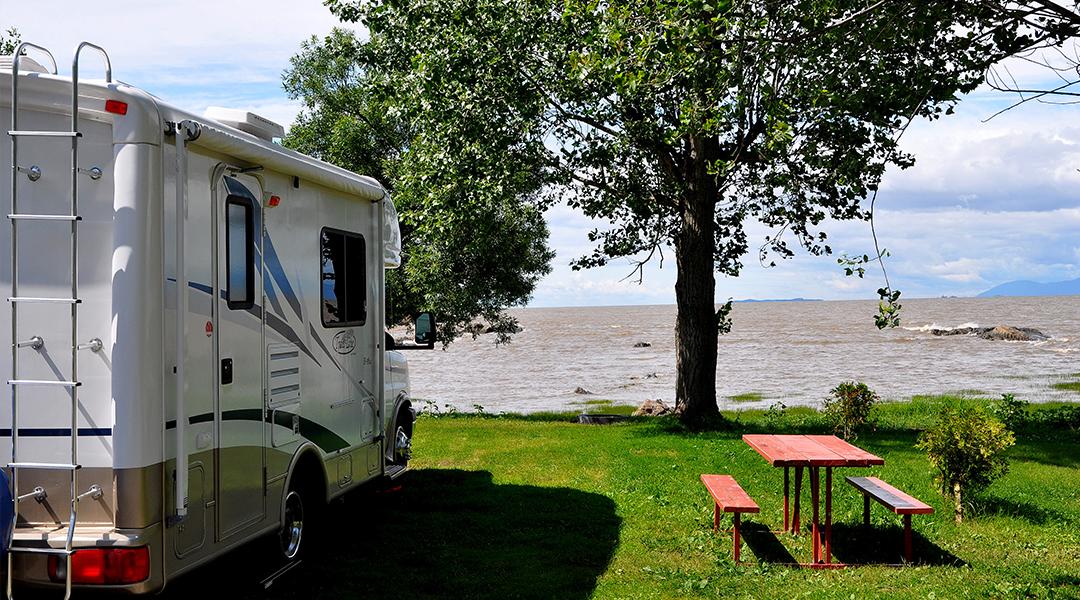 Camping De la Demi-lieue dans la région de Chaudière Appalaches