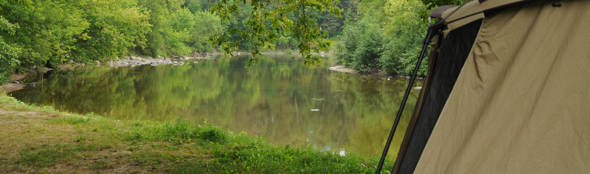 Camping Union - Camping Chute aux Iroquois dans les Laurentides
