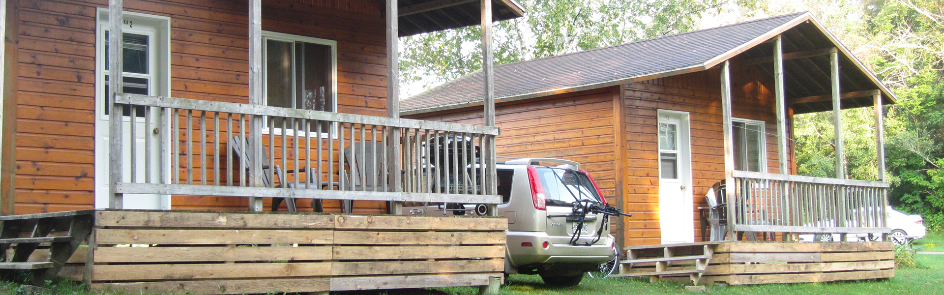 Camping Union - Camping Lac-Saint-Michel : Location de chalet, tente bruce prêt à camper!